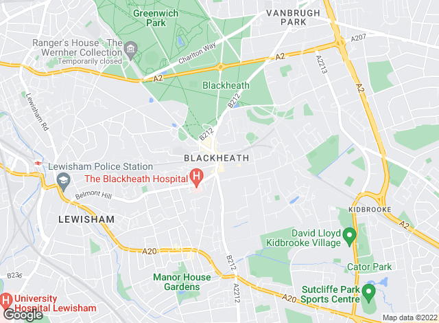 Map for Winkworth, Blackheath