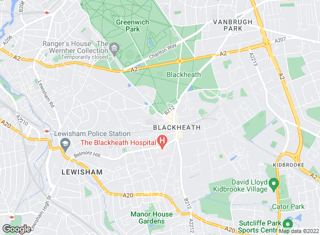 Map for Alex Neil, Blackheath Village
