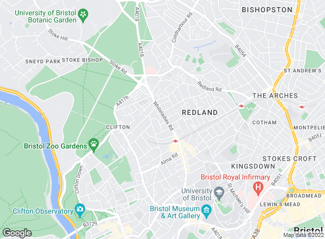 Map for Morgan Beddoe, Clifton