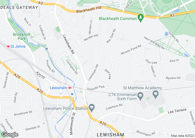 Map for Lewisham Hill, London, Lewisham, SE13