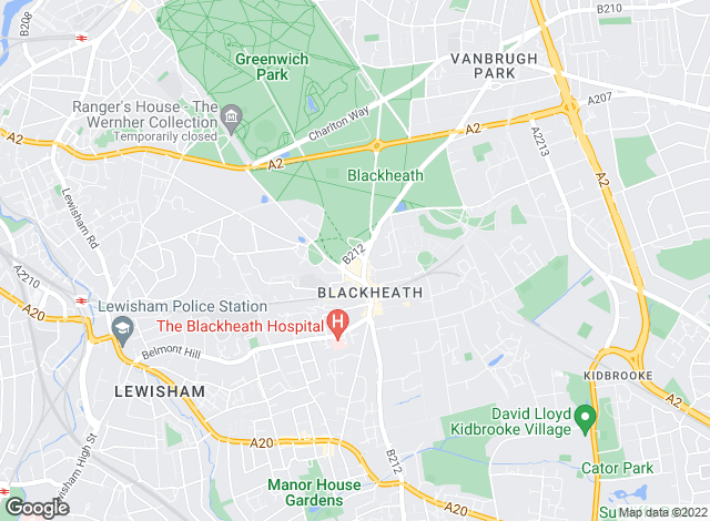 Map for Kinleigh Folkard & Hayward - Lettings, Blackheath