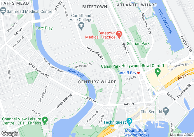 Map for Century Wharf, Cardiff Bay ( 1 Bed )*
