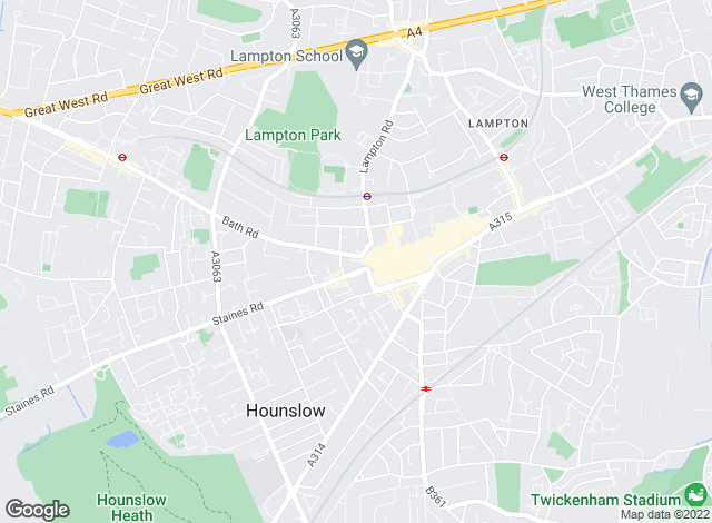 Map for Bridge Property Services, Hounslow