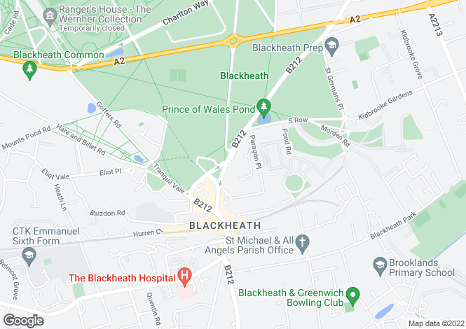 Map for Montpellier Row Blackheath SE3