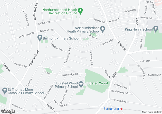 Map for Birchington Close,