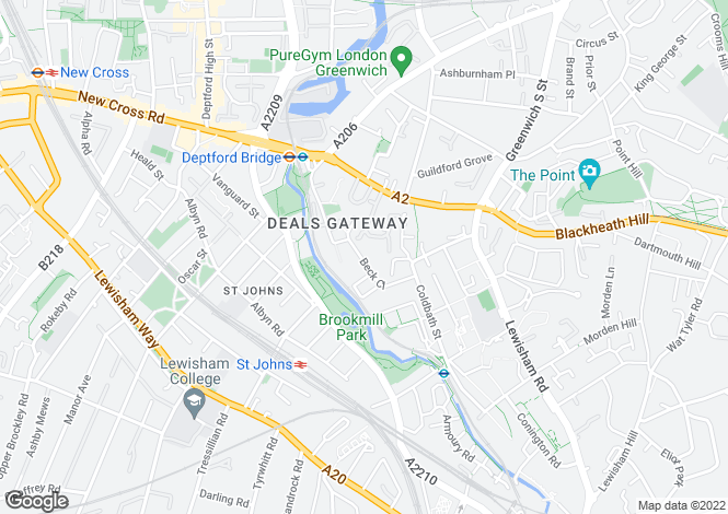Map for Deals Gateway, Lewsiham, London, SE13 7RX