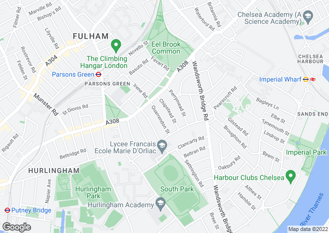 Map for Chipstead Street, Fulham, SW6