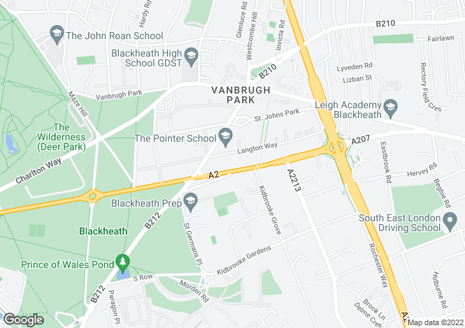 Map for Shooters Hill Road, Blackheath, SE3