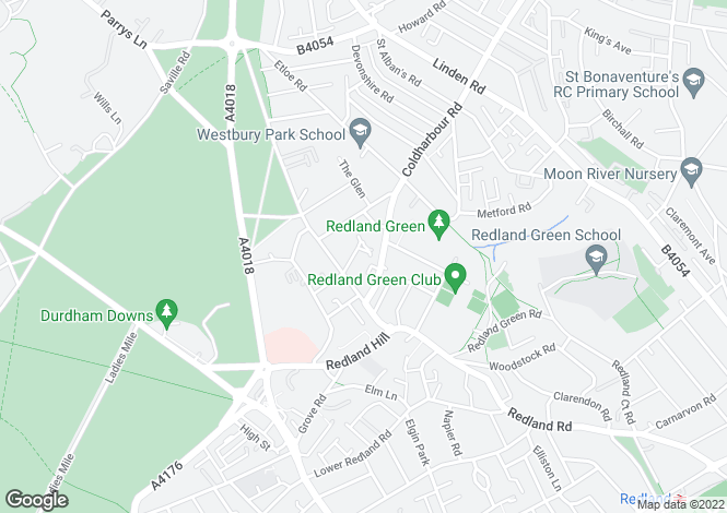 Map for Cambridge Park, Redland, Bristol