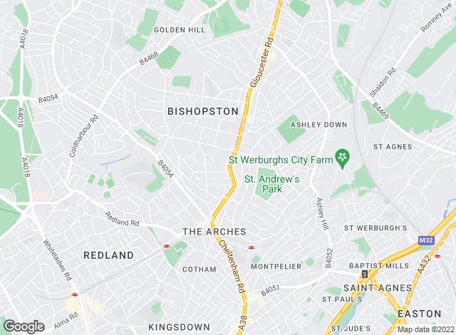 Map for Andrews Estate Agents, Bishopston