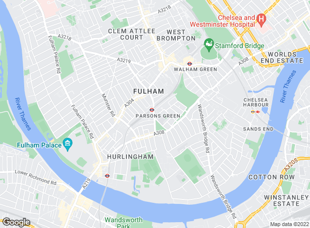 Map for Brik, Fulham