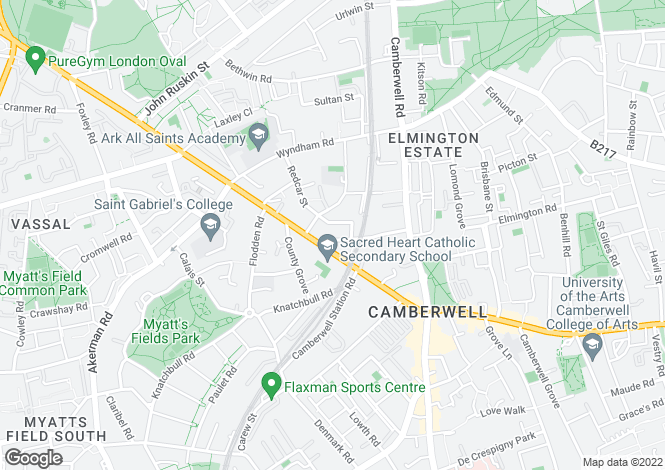 Map for Medlar St, Camberwell, London