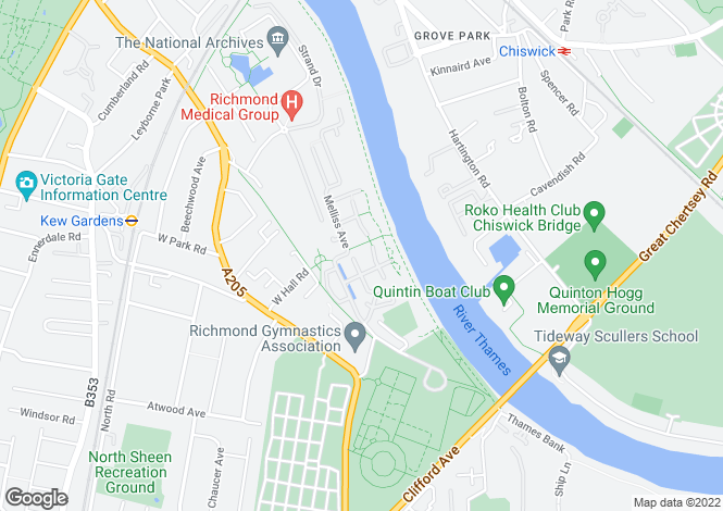 Map for Greenlink Walk, Kew Riverside, Richmond