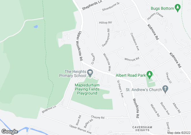 Map for Caversham Heights, Reading