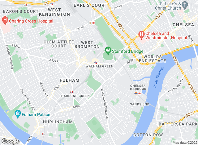 Map for Marsh & Parsons, Fulham