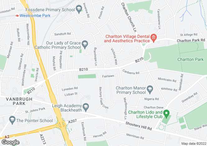 Map for Cherry Tree Court, Charlton Road, Charlton, SE7