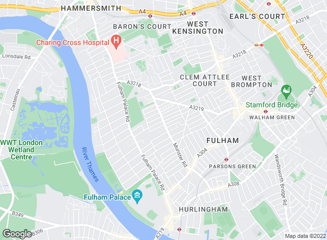 Map for Aspire, Fulham Central