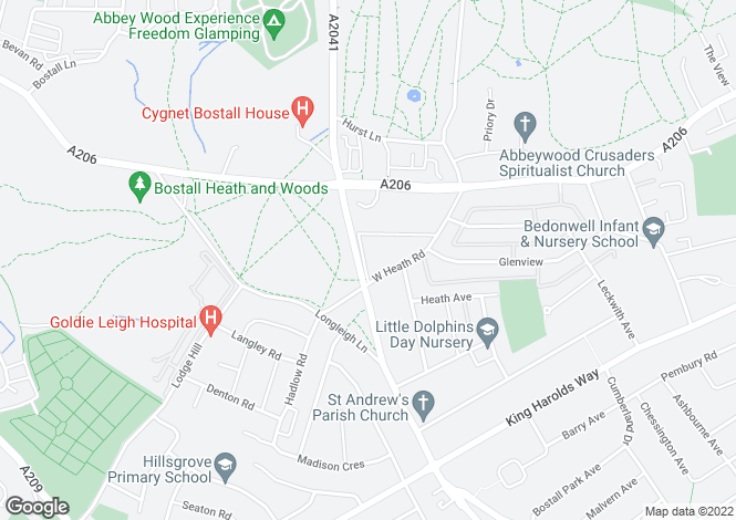 Map for Pinewood Road, Bostall Heath, London SE2
