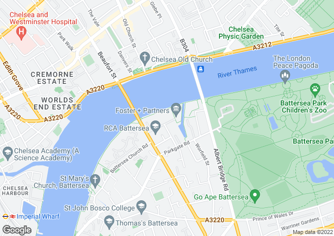 Map for Albion Riverside, 8 Hester Road, London, SW11