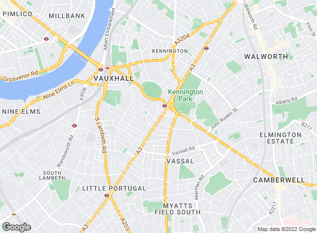 Map for ludlowthompson.com , Kennington Oval - Lettings