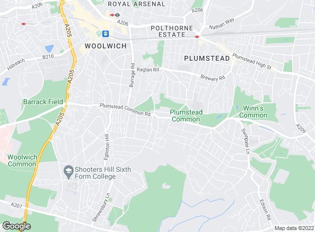Map for Robinson Jackson, Plumstead - Resale