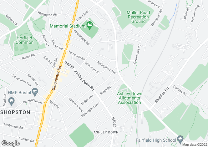 Map for Bromley Road, Ashley Down, BRISTOL
