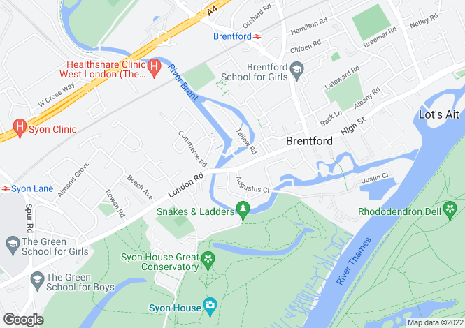 Map for Brentford Lock, Brentford, TW8