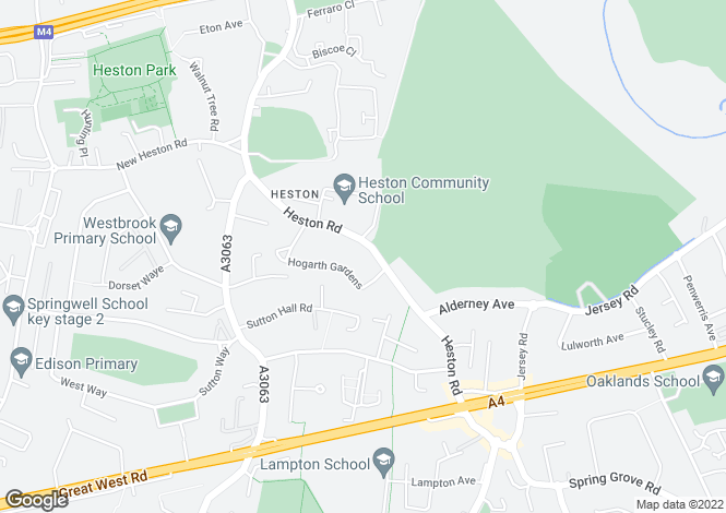 Map for Heston Road, Heston, TW5