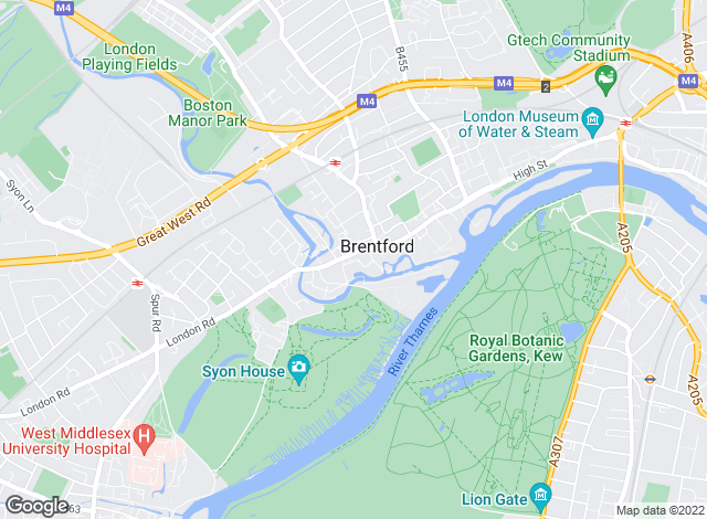 Map for Hunters, Brentford