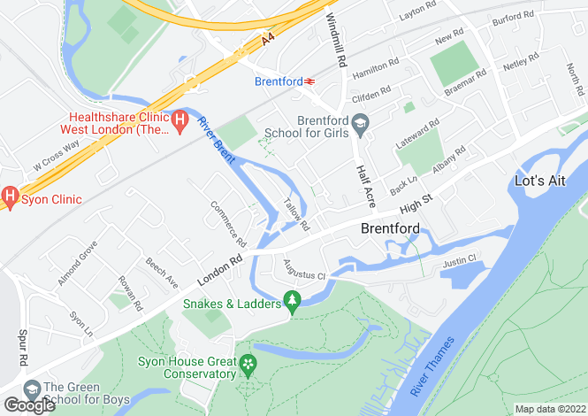 Map for 'The Island' Brentford