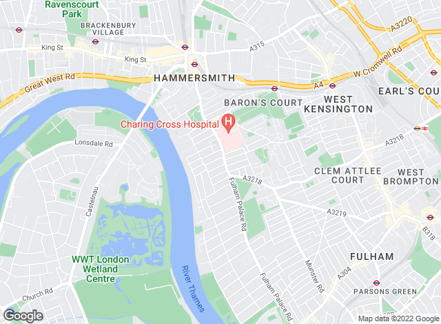 Map for Lawson Rutter, Hammersmith