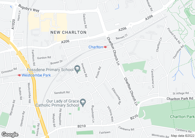 Map for Priolo Road, Charlton, London SE7