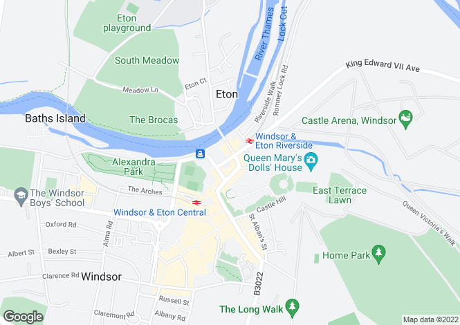 Map for George V Place, Thames Avenue, Windsor, SL4 1QP