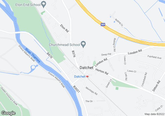 Map for Priory Way Datchet