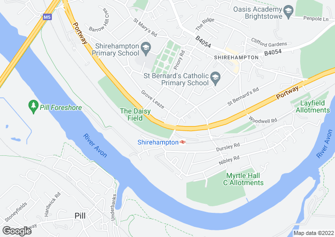 Map for Shirehampton, Bristol