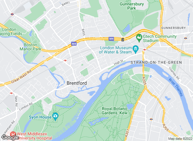 Map for Martin & Co, Brentford- Lettings