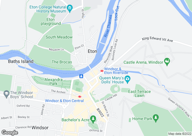 Map for Royal Windsor Quay, Windsor, Berkshire, SL4 1AE
