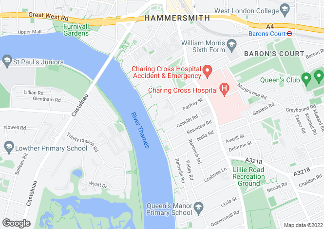Map for 2 Bed 2 Bath Apartment at Fulham Reach, 