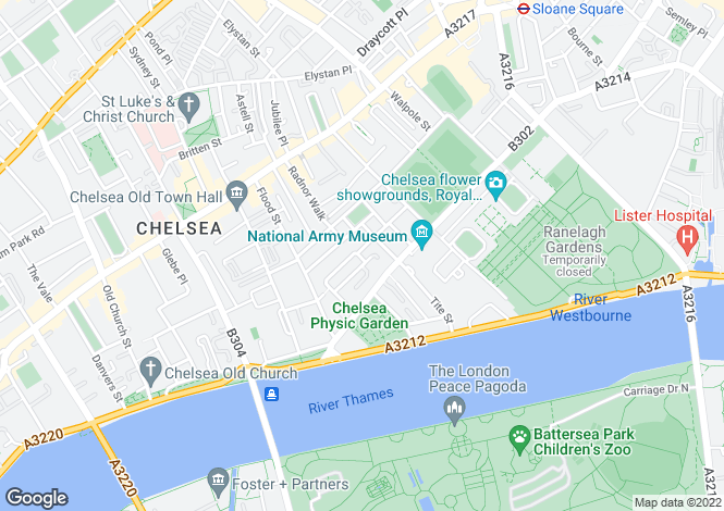 Map for Christchurch Terrace, London, SW3