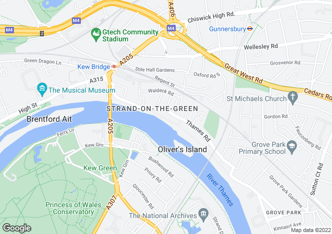 Map for Strand On The Green, Chiswick, W4