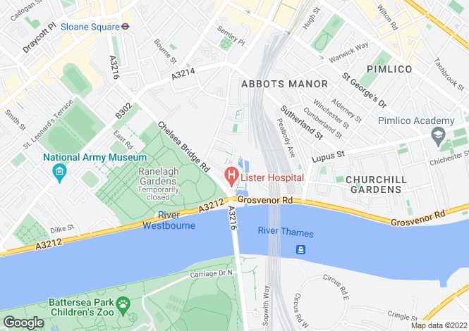 Map for Penthouse 1 Bramah, Grosvenor Waterside, Gatliff Road, London SW1W