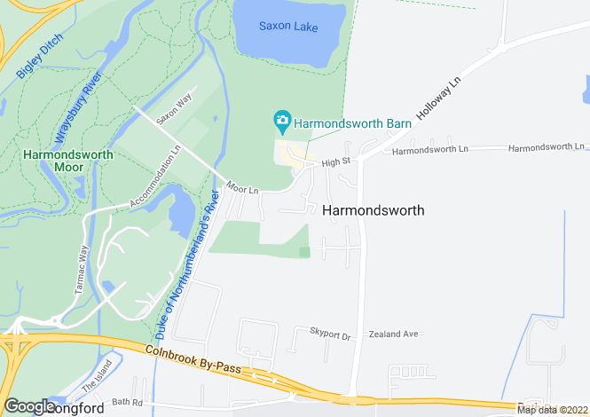 Map for Summerhouse Lane, Harmondsworth, West Drayton, Middlesex, UB7