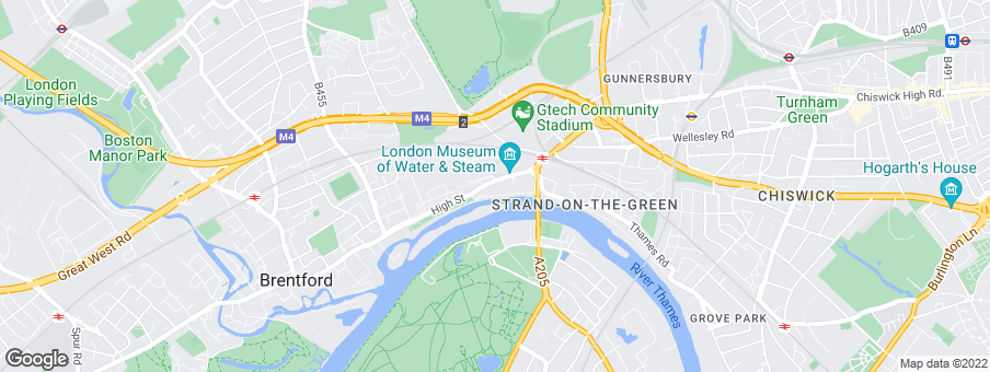 Map for Kew Bridge development by St. George