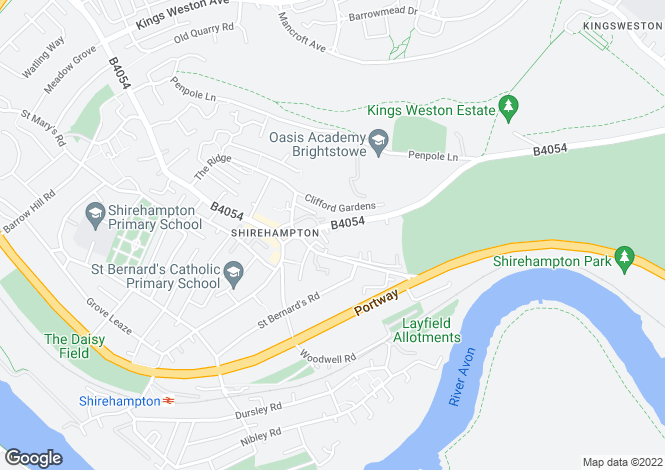 Map for Park Hill, Shirehampton, Bristol