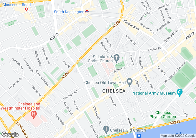 Map for Chelsea Square, London, SW3