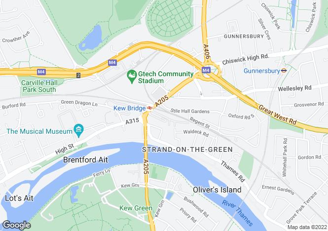 Map for Kew Bridge Court, London, W4