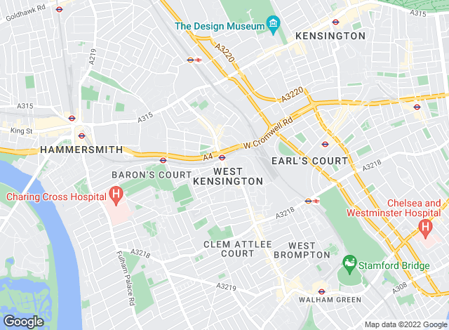 Map for Dexters, West Kensington