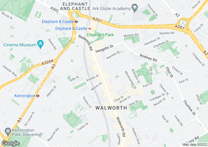 Map for Walworth Road, London