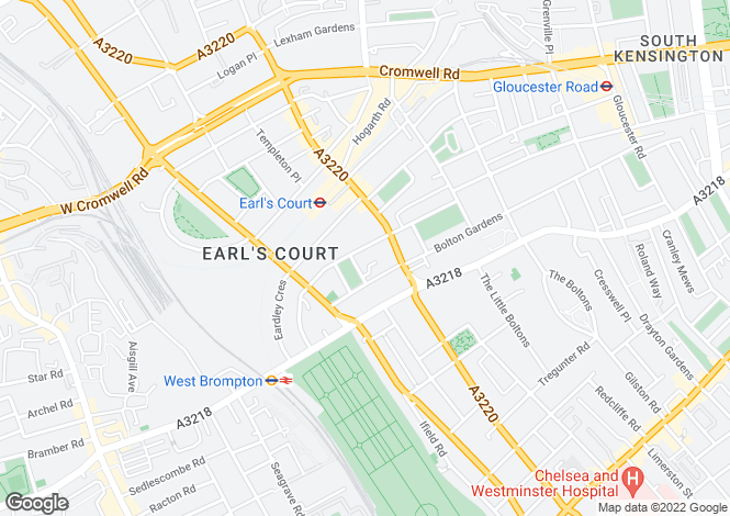 Map for Earls Court Square, Earls Court, London, SW5