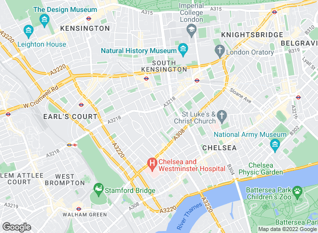 Map for M2 Property, London